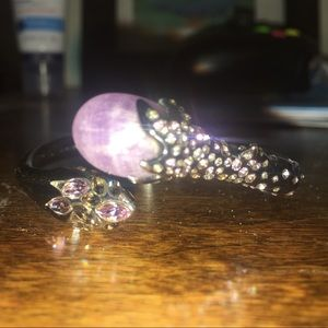 Alexis B. Crystal Encrusted Snake Hinge Bracelet